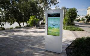 Outdoor advertising machine in Sydney, Australia